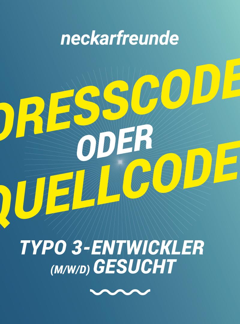 Neckarfreunde sucht: TYPO3-Entwickler (m/w/d)
