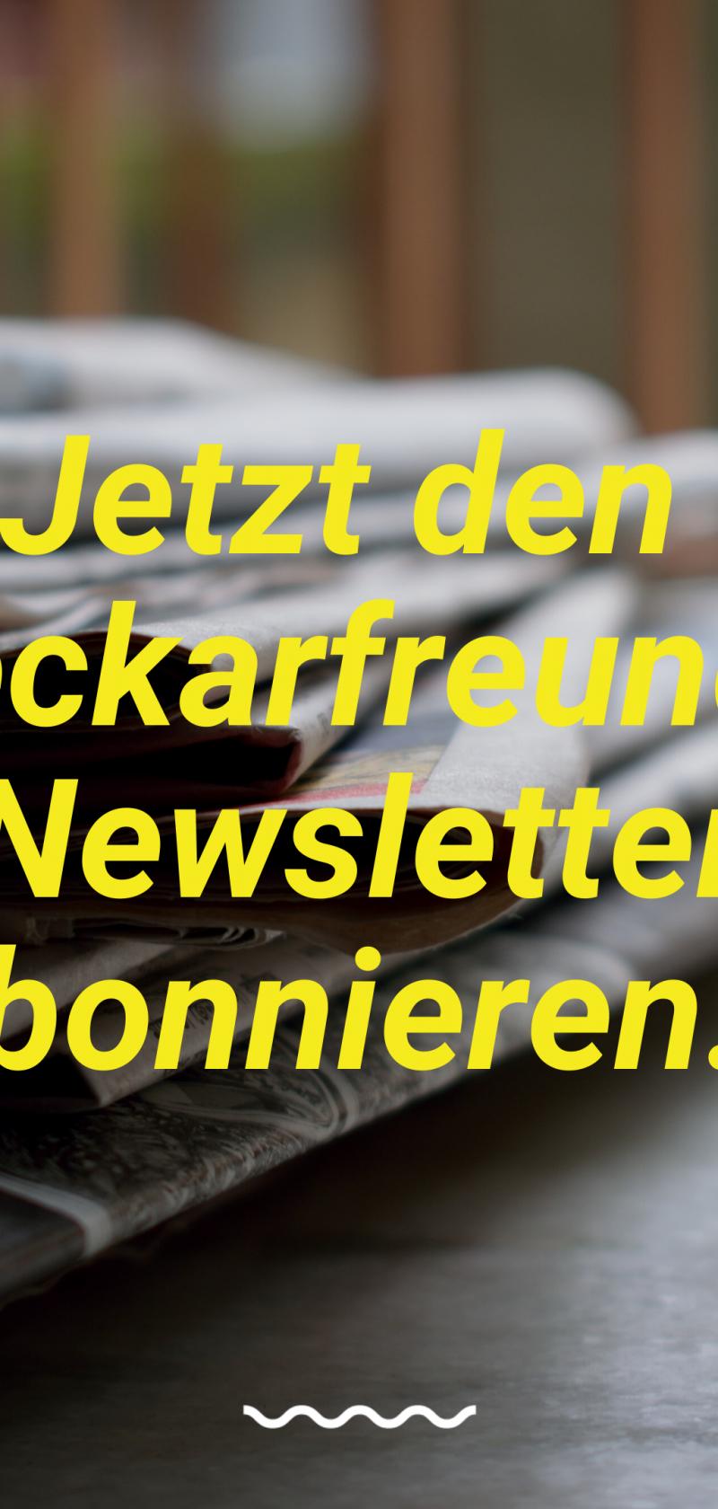 Immer up-to-date: Der neue neckarfreunde Newsletter ist da.