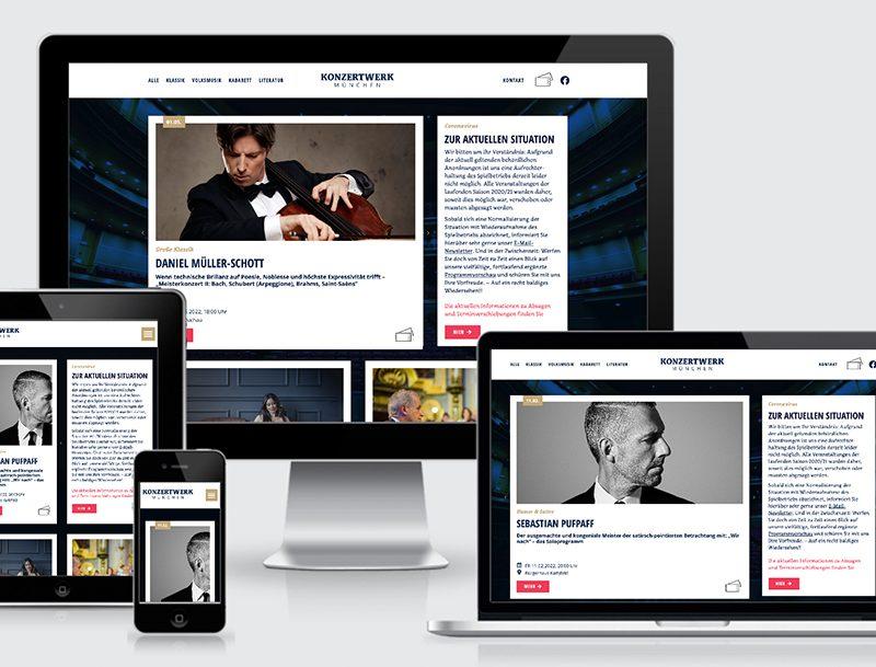 Das Konzertwerk München erhält neue Identity und eine neue Webseite.