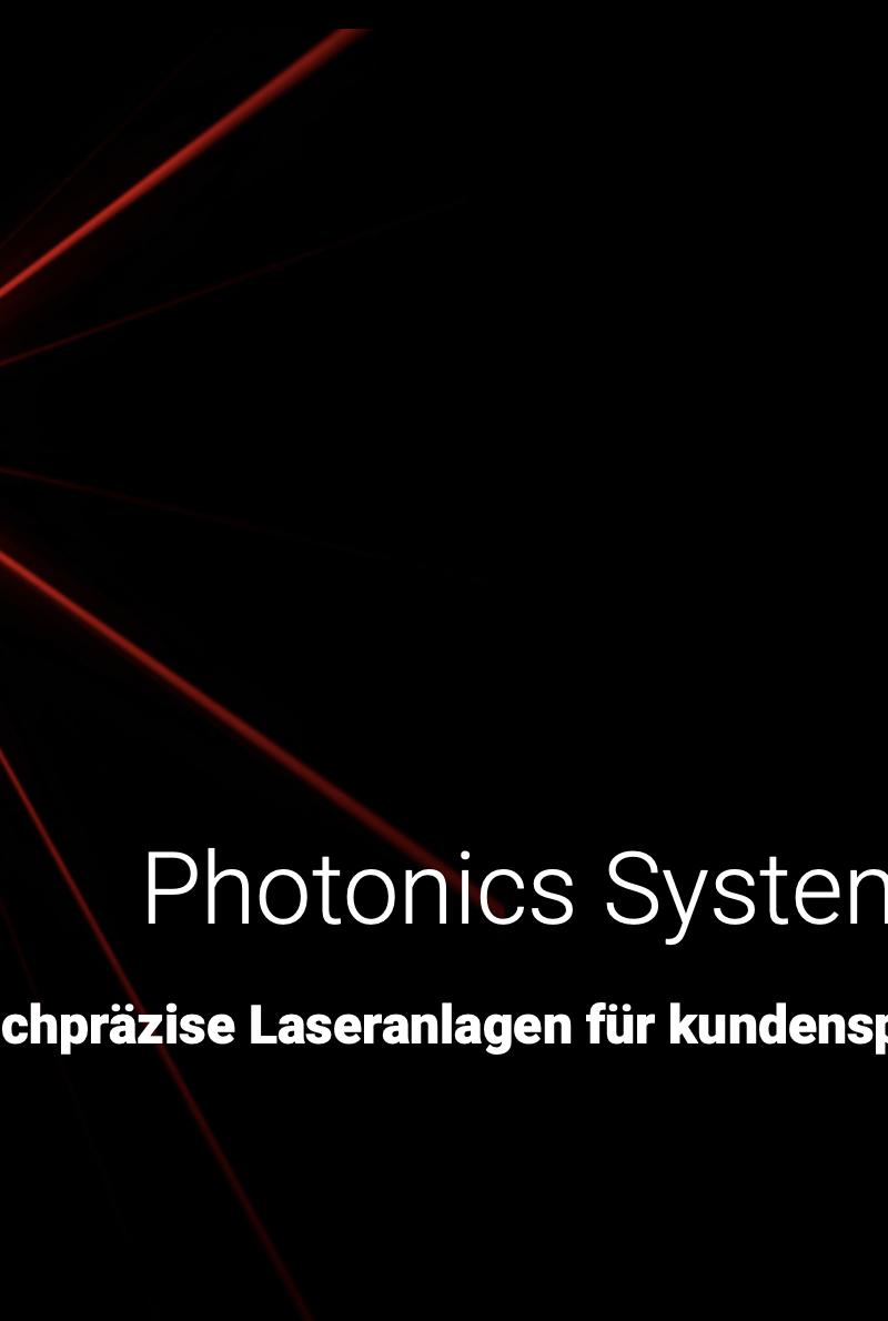 Herzlich willkommen Photonics System Group.
