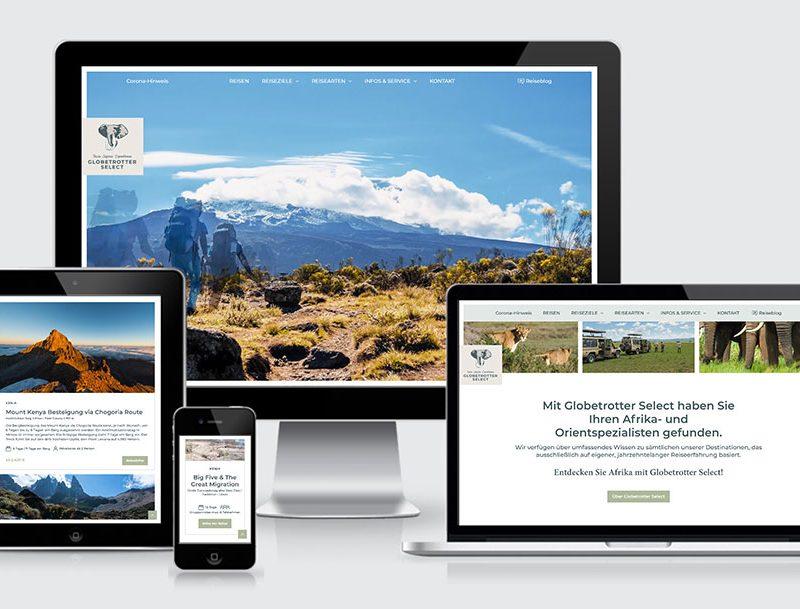 Globetrotter mit neuer Identity und neuer Website.