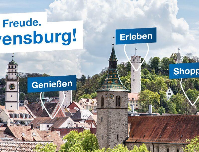 Genießen. Shoppen. Erleben. Ravensburg ist voller Freude.